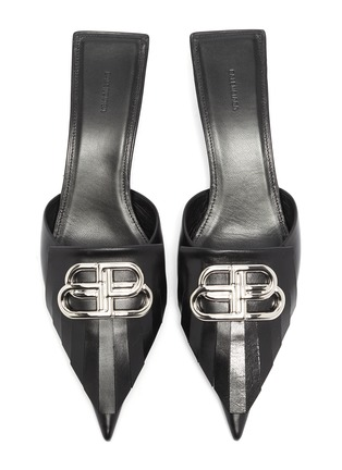 Detail View - Click To Enlarge - BALENCIAGA - 'Fringe Knife' leather mules