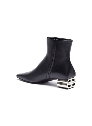 - BALENCIAGA - Typo' metal heel ankle boots