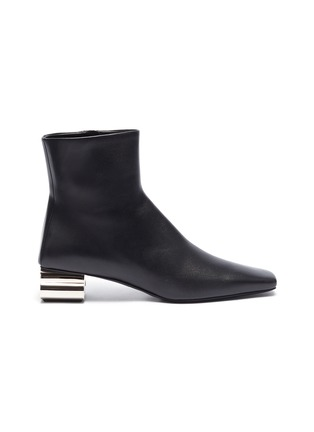 Main View - Click To Enlarge - BALENCIAGA - Typo' metal heel ankle boots