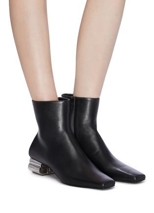 Figure View - Click To Enlarge - BALENCIAGA - Typo' metal heel ankle boots