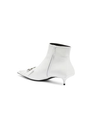 - BALENCIAGA - 'Fringe Knife' leather ankle boots
