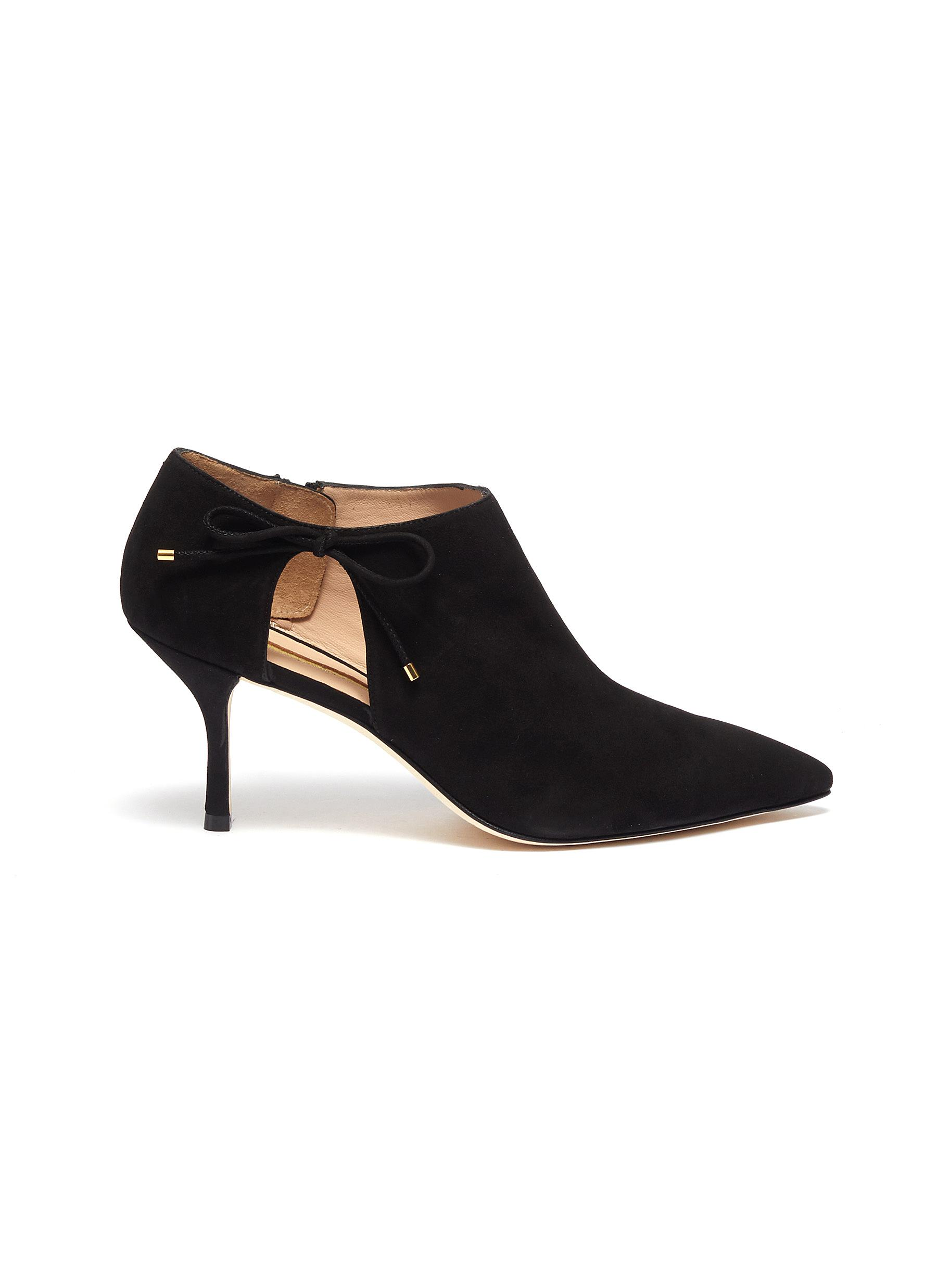 Avita cutout suede ankle boots by Stuart Weitzman