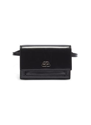 Main View - Click To Enlarge - BALENCIAGA - 'Sharp XS' logo appliqué leather bum bag