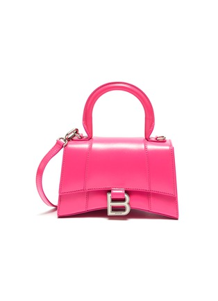 Main View - Click To Enlarge - BALENCIAGA - 'Hourglass XS' leather top handle bag