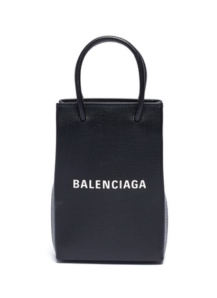 Main View - Click To Enlarge - BALENCIAGA - 'Shopping Phone Holder' crossbody bag