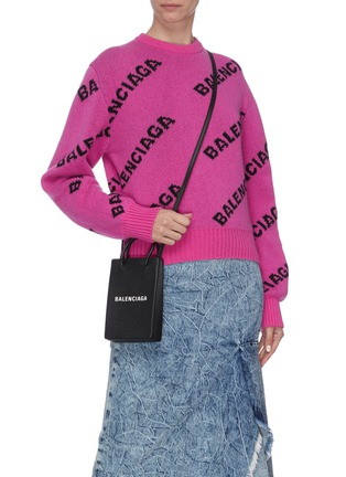 Figure View - Click To Enlarge - BALENCIAGA - 'Shopping Phone Holder' crossbody bag