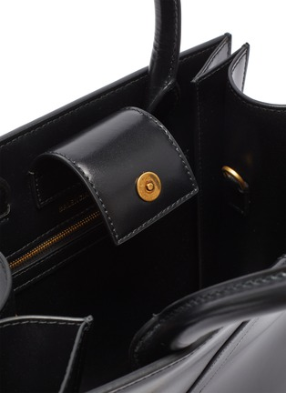 Detail View - Click To Enlarge - BALENCIAGA - 'Hourglass' small leather tote