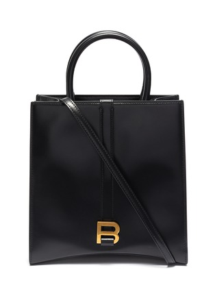 Main View - Click To Enlarge - BALENCIAGA - 'Hourglass' small leather tote