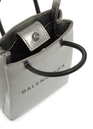 Detail View - Click To Enlarge - BALENCIAGA - Logo print leather tote