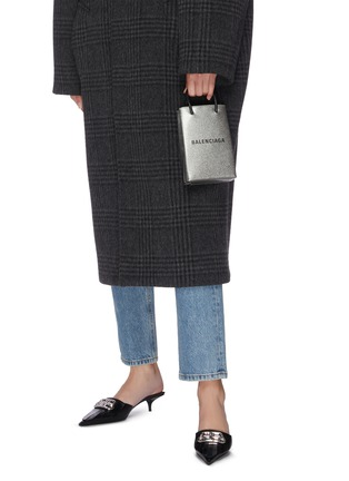 Front View - Click To Enlarge - BALENCIAGA - Logo print leather tote