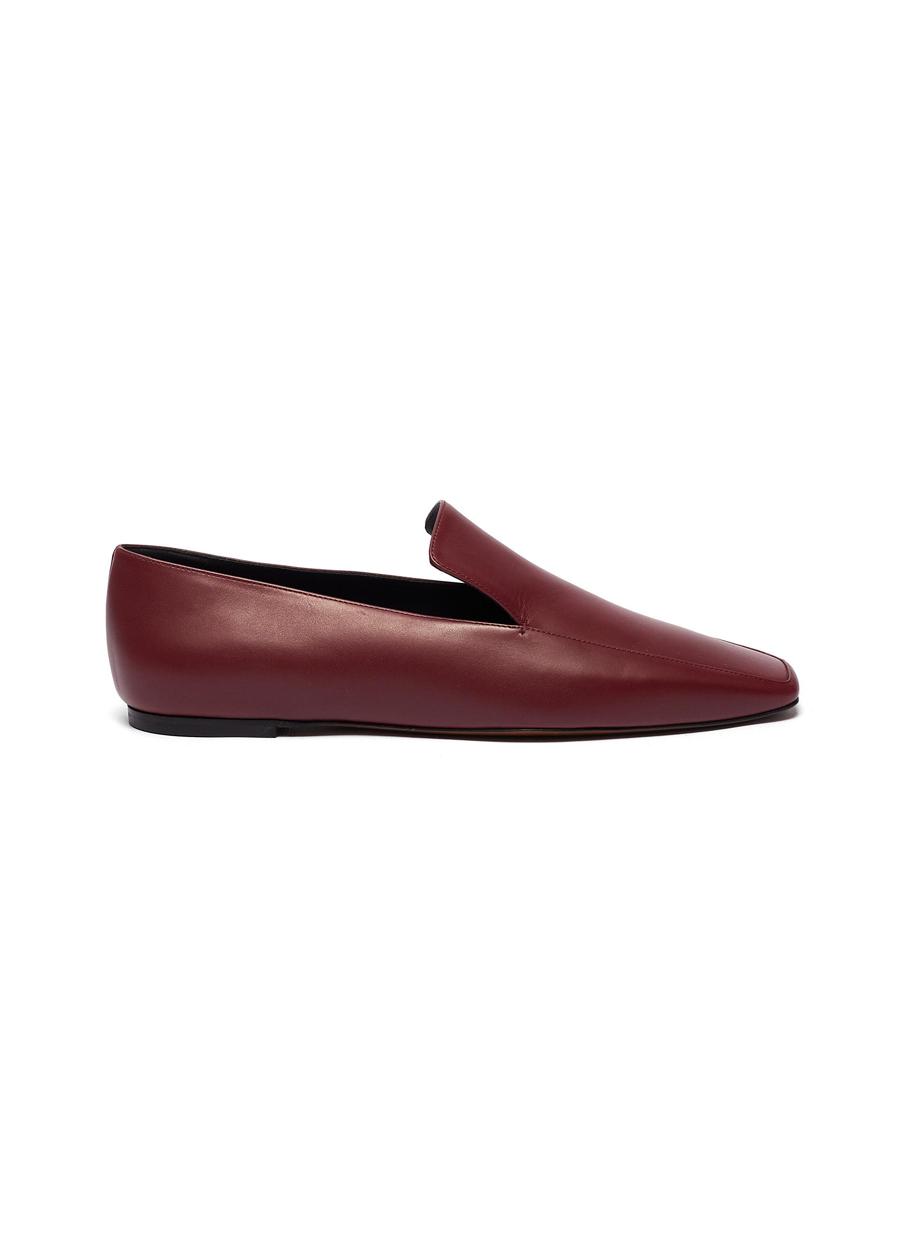 Neous Flats Prom Square Toe Leather Loafers