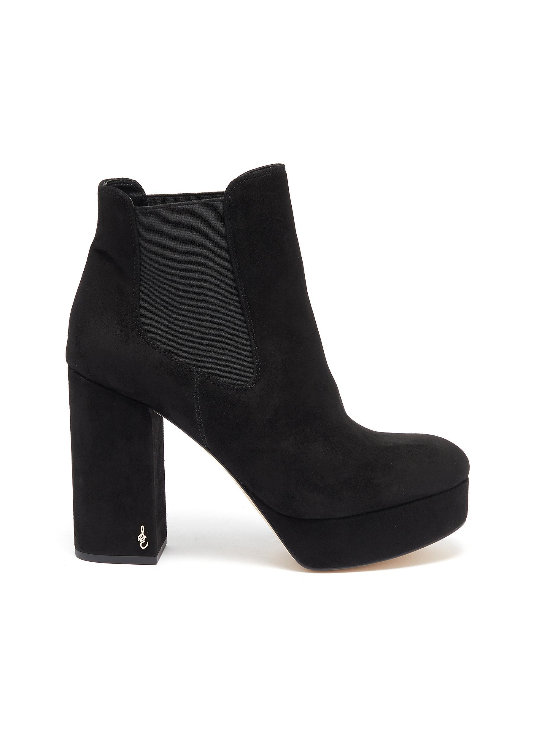 Abella suede platform boots by Sam Edelman