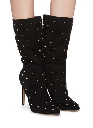 Figure View - Click To Enlarge - SAM EDELMAN - 'Waylyn' stud suede boots