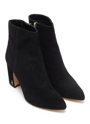 Detail View - Click To Enlarge - SAM EDELMAN - 'Hilty' suede ankle boots