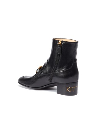 - GUCCI - Chain clasp leather ankle boots