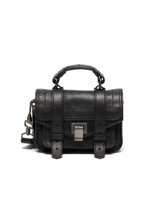 Main View - Click To Enlarge - PROENZA SCHOULER - 'PS1' buckle leather micro shoulder bag