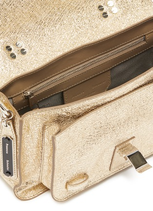 Detail View - Click To Enlarge - PROENZA SCHOULER - 'PS1' tiny crinkled metallic leather satchel