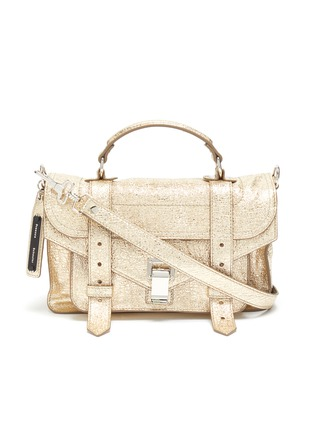 Main View - Click To Enlarge - PROENZA SCHOULER - 'PS1' tiny crinkled metallic leather satchel
