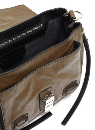 Detail View - Click To Enlarge - PROENZA SCHOULER - 'PS1+' tiny crinkled leather satchel