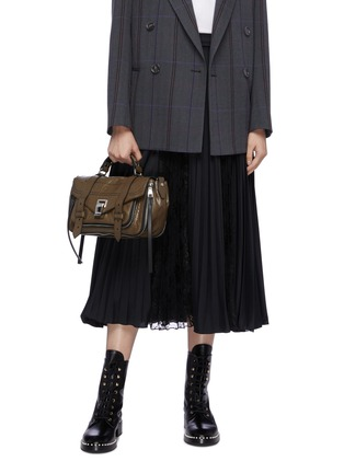 Front View - Click To Enlarge - PROENZA SCHOULER - 'PS1+' tiny crinkled leather satchel