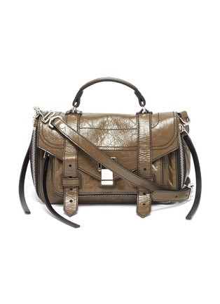 Main View - Click To Enlarge - PROENZA SCHOULER - 'PS1+' tiny crinkled leather satchel
