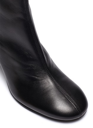 Detail View - Click To Enlarge - BY FAR - 'Vasi' block heel leather ankle boots
