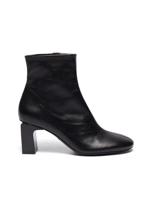 Main View - Click To Enlarge - BY FAR - 'Vasi' block heel leather ankle boots