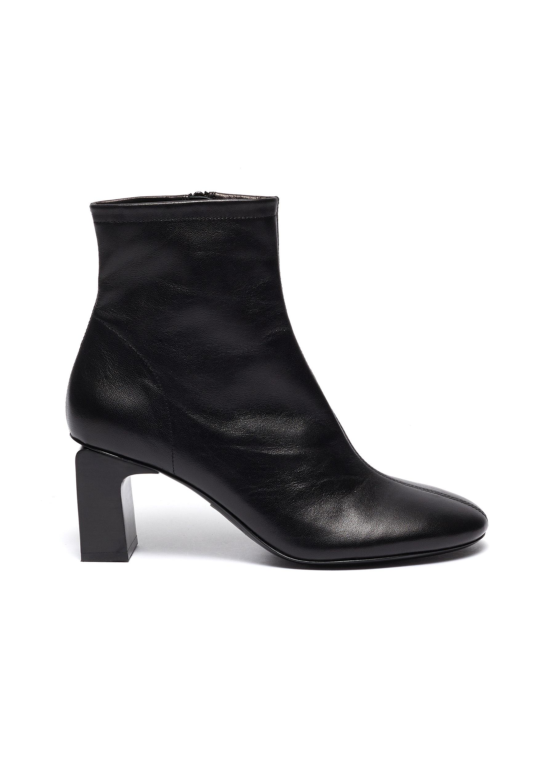 By Far Boots Vasi block heel leather ankle boots