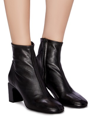 Figure View - Click To Enlarge - BY FAR - 'Vasi' block heel leather ankle boots