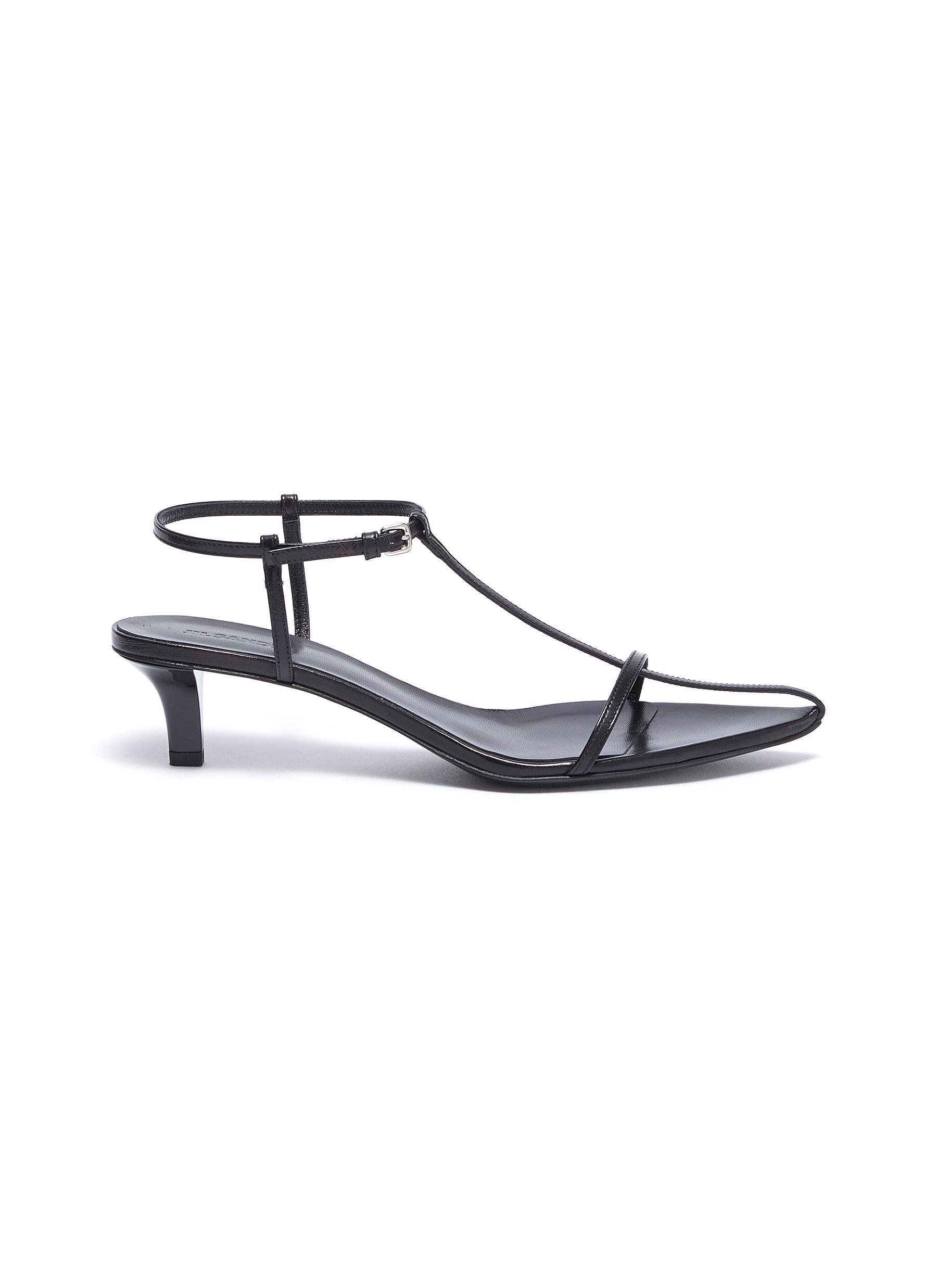 Strappy leather sandals by Jil Sander