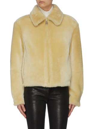 Main View - Click To Enlarge - COMMON LEISURE - 'Courage' Merino Shearling Jacket