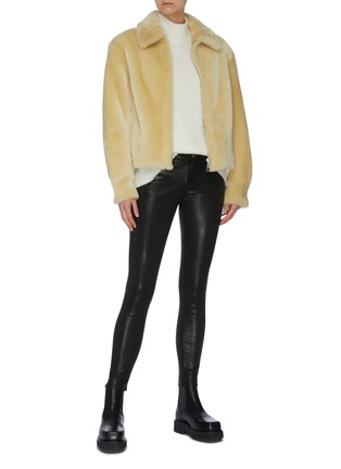 Figure View - Click To Enlarge - COMMON LEISURE - 'Courage' Merino Shearling Jacket