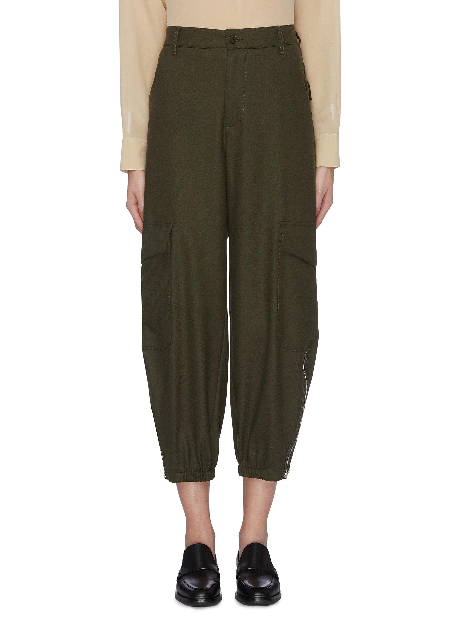 Patch pocket tapered pants by Barena