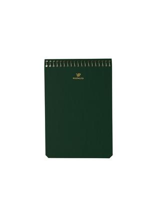 Main View - Click To Enlarge - POSTALCO - A6 pingraph notebook – Bank Green