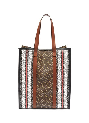 Main View - Click To Enlarge - BURBERRY - Monogram stripe e-canvas tote