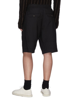 Back View - Click To Enlarge - ZIGGY CHEN - Drawstring panelled shorts