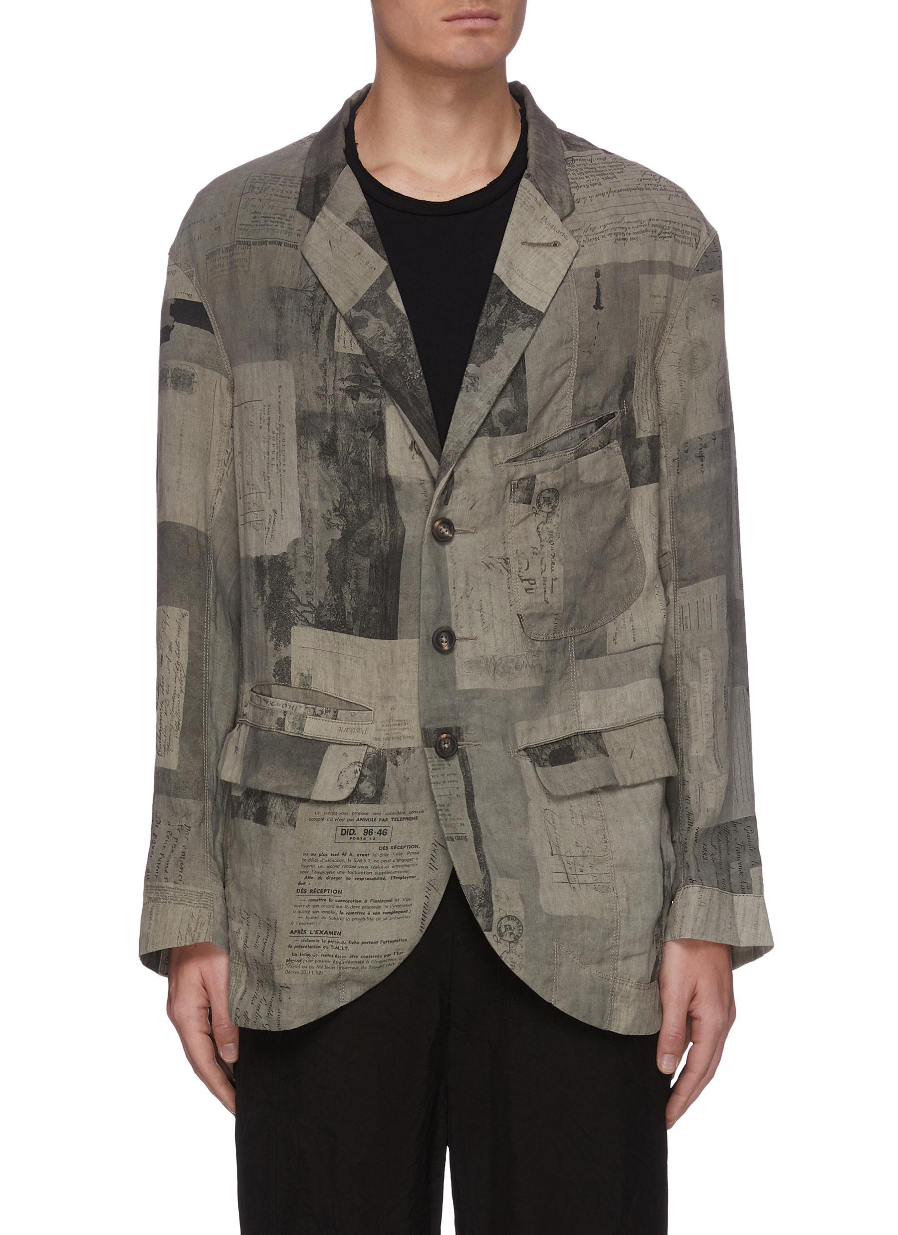 Ziggy Chen Graphic print blazer