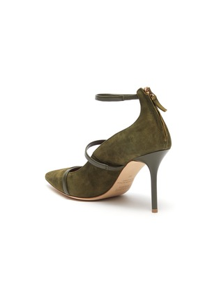 - MALONE SOULIERS - 'Robyn' ankle strappy suede pumps
