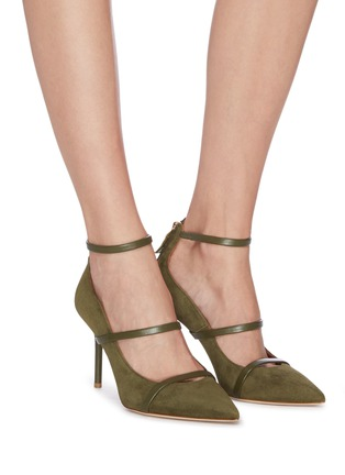Figure View - Click To Enlarge - MALONE SOULIERS - 'Robyn' ankle strappy suede pumps