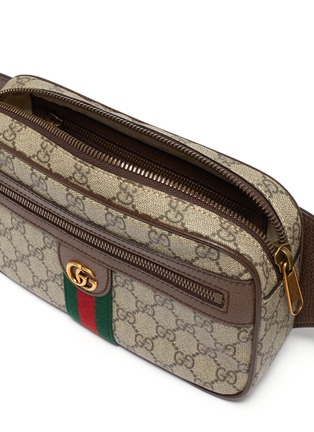 Detail View - Click To Enlarge - GUCCI - 'Ophidia' monogram print bum bag