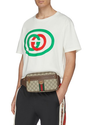 Figure View - Click To Enlarge - GUCCI - 'Ophidia' monogram print bum bag