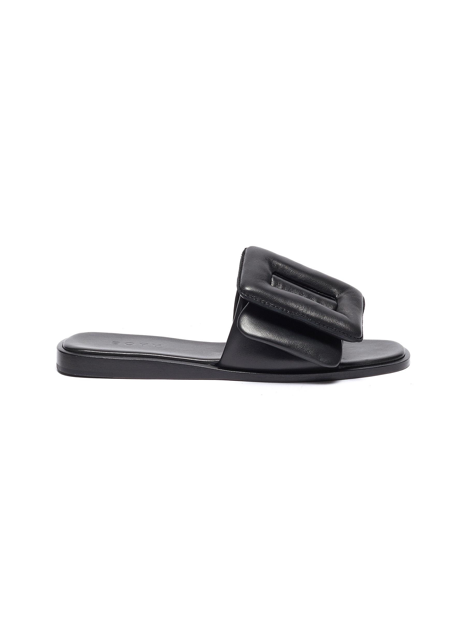 Boyy Flats Buckle single band leather sandals
