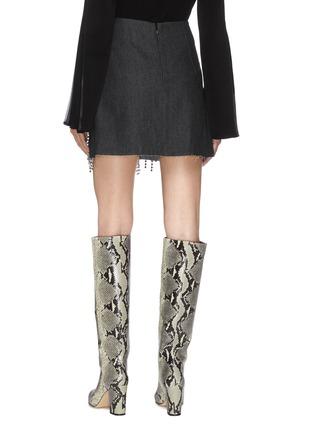 Back View - Click To Enlarge - 16ARLINGTON - Bead tassel embellished mini skirt