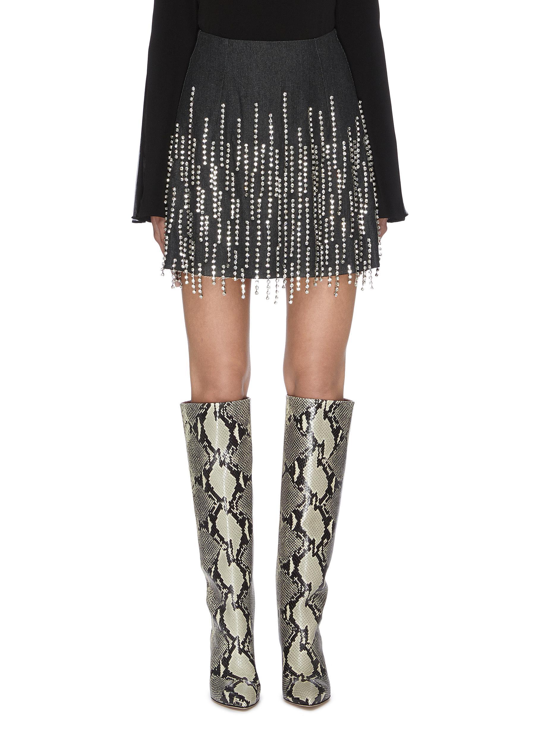 shop 16Arlington Bead tassel embellished mini skirt online
