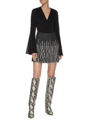 Figure View - Click To Enlarge - 16ARLINGTON - Bead tassel embellished mini skirt