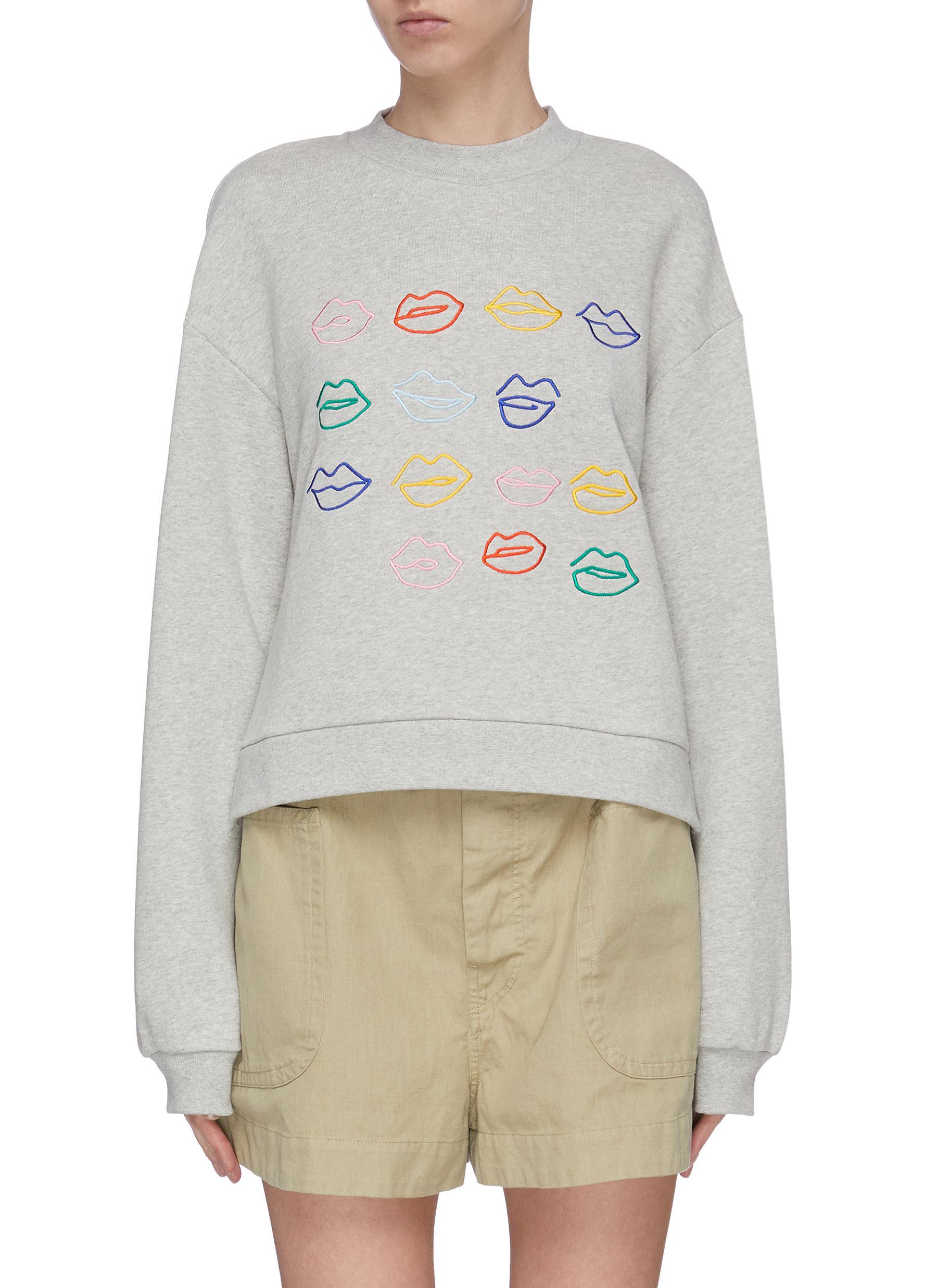 shop Être Cécile Kiss Grid Sweatshirt online
