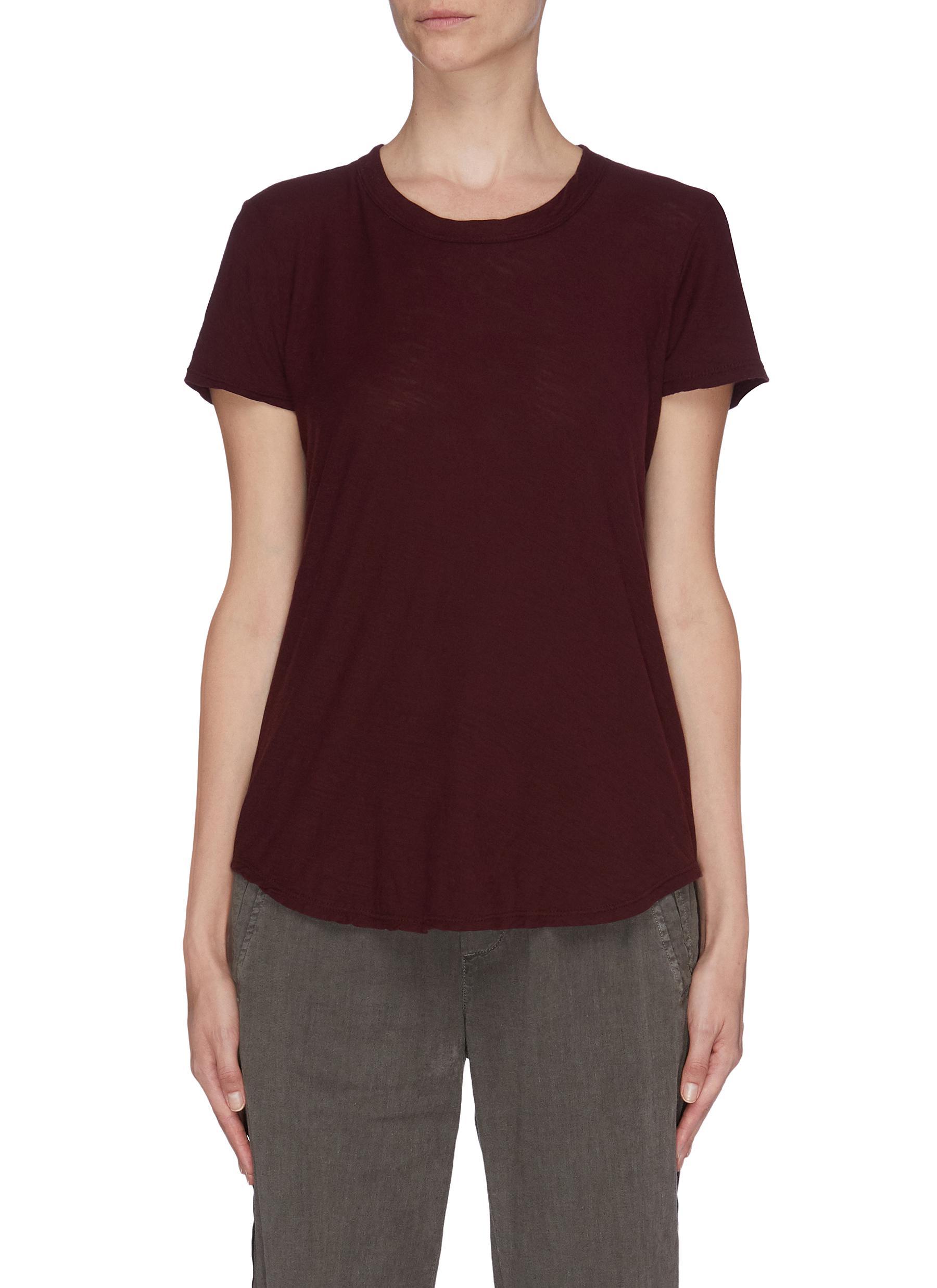 Buy James Perse Tops Sheer slub crew neck T-shirt