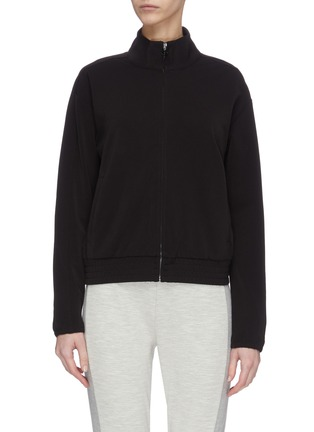 Main View - Click To Enlarge - JAMES PERSE - Cropped funnel neck track jacket