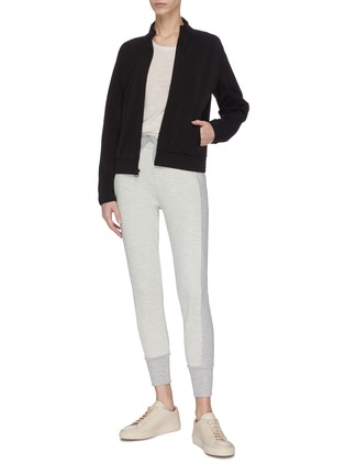 Figure View - Click To Enlarge - JAMES PERSE - Cropped funnel neck track jacket