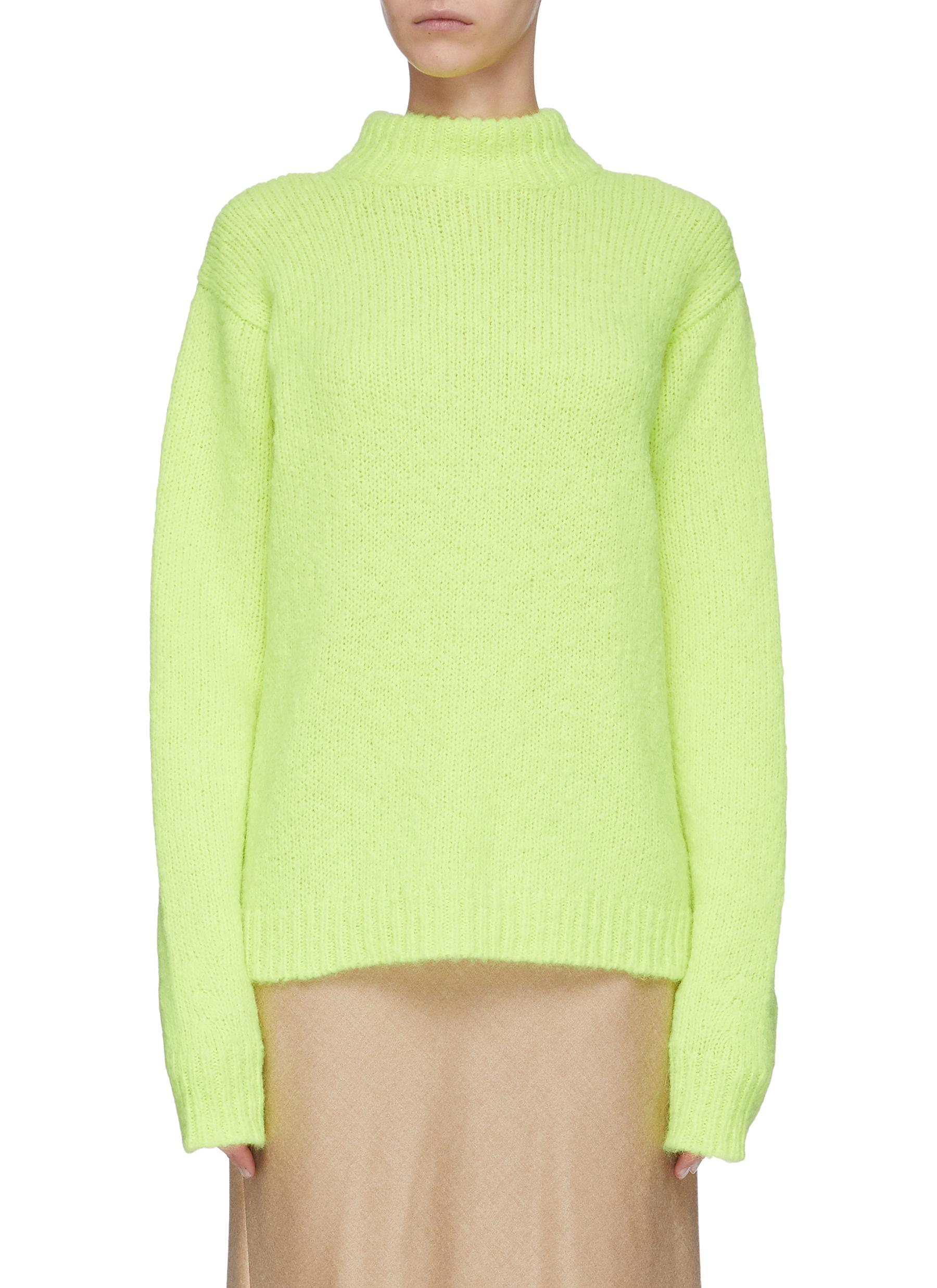 shop Tibi Cozette' alpaca sleeve sweater online